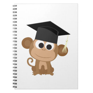 Gruaduation Monkey Spiral Notebook