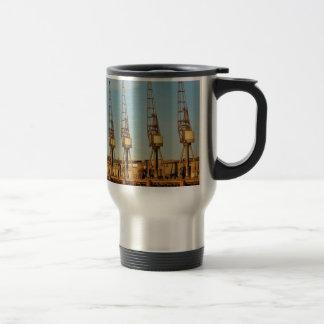 Grúas de área de embarque tazas de café