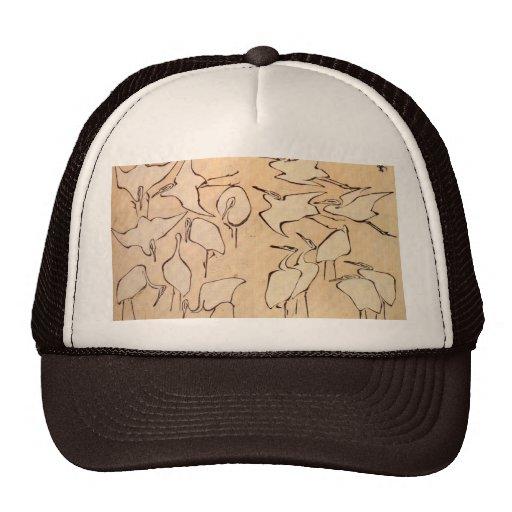 Grúas de lecciones rápidas en el dibujo simplifica gorras