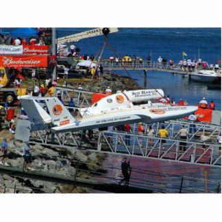 Grúas de los barcos de la velocidad escultura fotografica