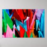 Grúas de Origami Posters