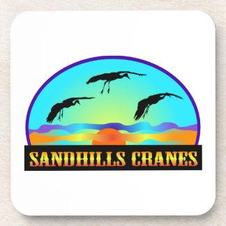 Grúas de Sandhills Posavasos De Bebida