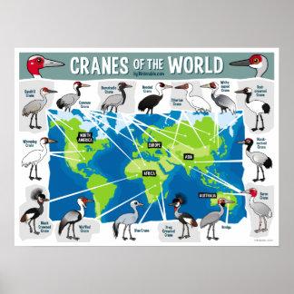Grúas del mundo póster