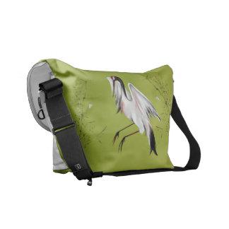 Grúas en la bolsa de mensajero de bambú bolsas messenger