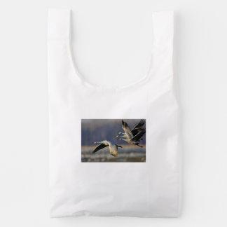grúas en vuelo bolsa reutilizable