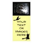 Grúas oscuras tarjeta publicitaria a todo color