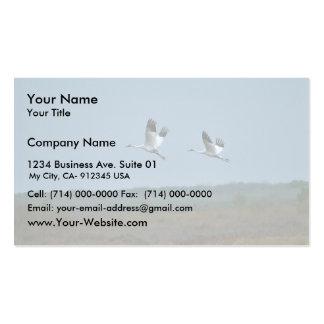Grúas que chillan tarjetas de visita