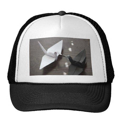 grúas románticas del origami gorro