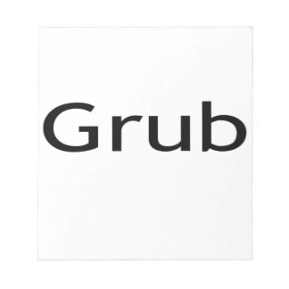 Grub Memo Note Pads