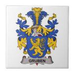 Gruben Family Crest Tiles