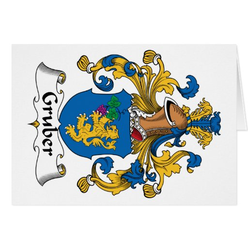 Gruber Family Crest Greeting Card