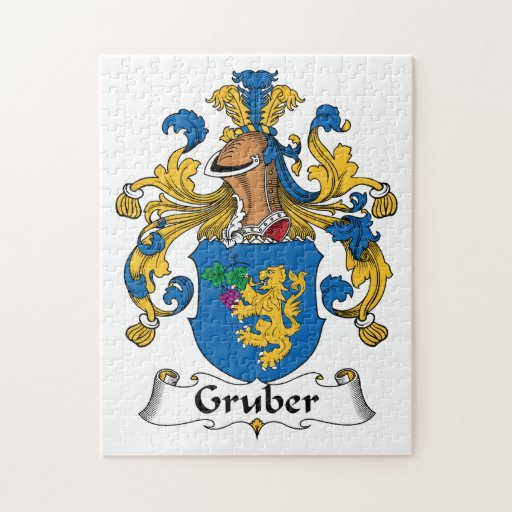 Gruber Family Crest Jigsaw Puzzles
