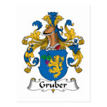 Gruber Family Crest Post Card