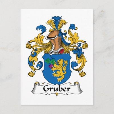Crista da família de Gruber Cartão Postal por