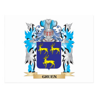 Gruen Coat of Arms - Family Crest Post Card
