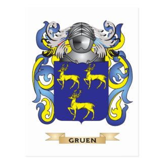 Gruen Coat of Arms Family Crest Post Cards