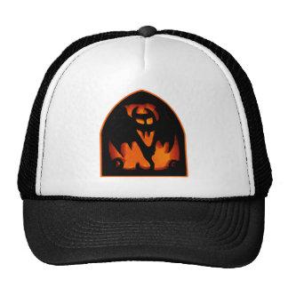 Gruesome Halloween Pumpkin Bat Silhouette Hat