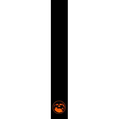 Gruesome Halloween Pumpkin Skull Silhouette Neck Tie by Truly Uniquely