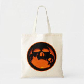 Gruesome Halloween Pumpkin Skulls Silhouette Tote Bag