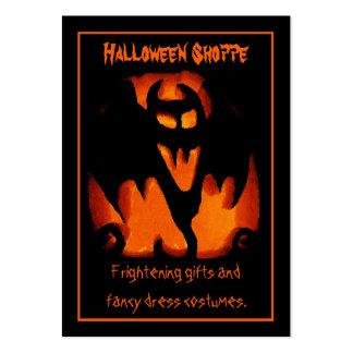 Gruesome Vampire Bat Silhouette Halloween Store Large Business Card