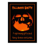 Gruesome Vampire Skulls Silhouette Halloween Store Large Business Cards (Pack Of 100)