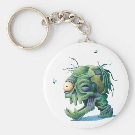 gruesome zombie dead head key chain