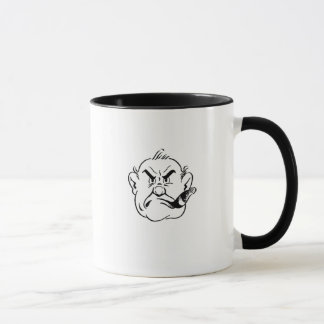 Gruff Cigar Smoking Man Mug