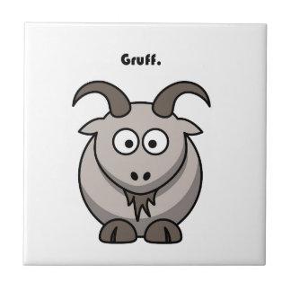 Gruff Gray Goat Cartoon Ceramic Tile