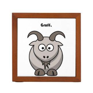 Gruff Gray Goat Cartoon Desk Organizer