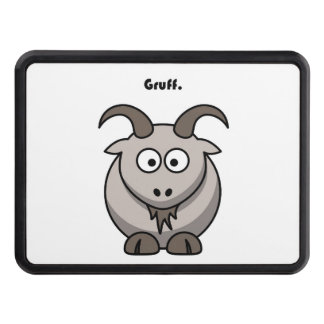 Gruff Gray Goat Cartoon Hitch Cover