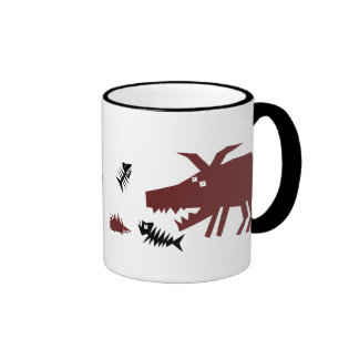 Gruff & Prickles Ringer Coffee Mug