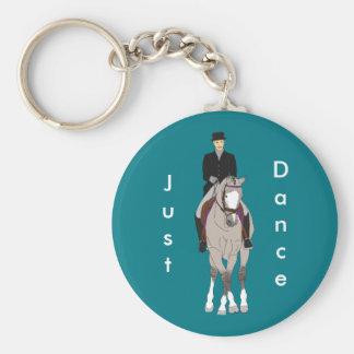 Grulla Dressage Horse and Rider Keychain