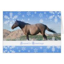Grulla Spanish Mustang - 5x7 Holiday Card