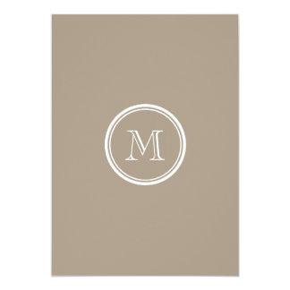 Grullo High End Colored 5x7 Paper Invitation Card