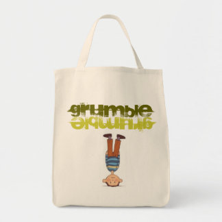 """""""grumble grumble"""" illustrated grocery tote tote bag"""