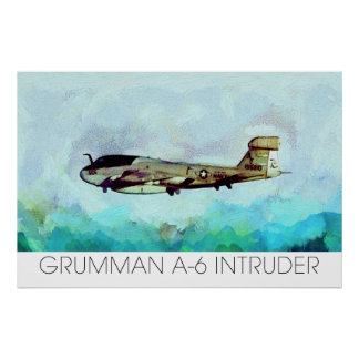Grumman A-6 Intruder rendered in Paint not Photo! Poster