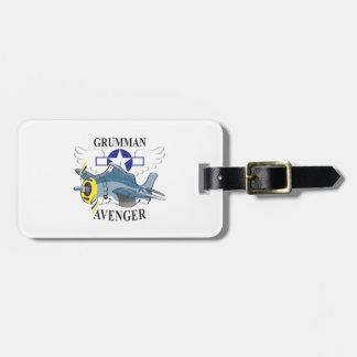 grumman avenger tag for luggage