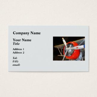 Grumman F3F-2 Biplane Business Card