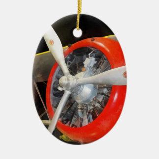 Grumman F3F-2 Biplane Ceramic Ornament