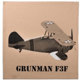 Grumman F3F sepia.World War 2 Napkin
