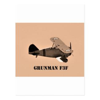 Grumman F3F sepia.World War 2 Postcard