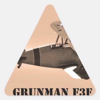 Grumman F3F sepia.World War 2 Triangle Sticker