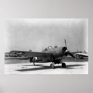 "Grumman F4F ""Wildcat"" fighter Poster"