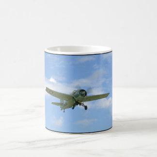 Grumman F4F Wildcat In Air,Below_WWII Planes Coffee Mug