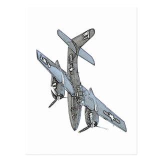 Grumman F7F Tigercat Airplane Postcard