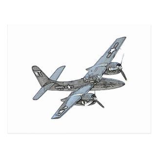 Grumman F7F Tigercat Postcard