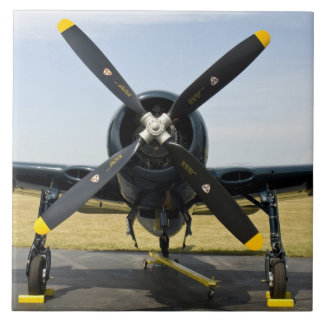 Grumman F8F Bearcat Navy Carrier Fighter on the Ceramic Tile