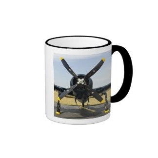 Grumman F8F Bearcat Navy Carrier Fighter on the Ringer Coffee Mug