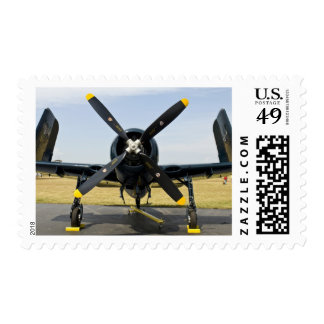 Grumman F8F Bearcat Navy Carrier Fighter on the Postage Stamp