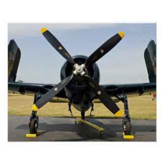 Grumman F8F Bearcat Navy Carrier Fighter on the Poster